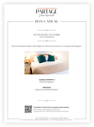 Restaurant Partage - Bon cadeau